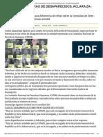 Se Coordinan Cifras de Desaparecidos-Carlos Zamarripa-Admisión de Fosas Clandestinas en Guanajuato