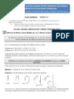 GRADO 6.5 - TALLER No. 2 MATEMATICAS - JUAN ESTEBAN ARBOLEDA SERRANO