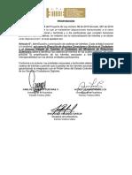 Constancia - Proposición Plenaria Pl 98 de 2019 Senado, 287 de 2018 Cámara