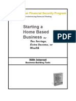 Starting a Home Based Business