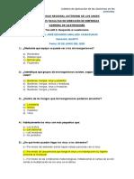 Corrección de cuestionario MICROORGANISMOS PATÓGENOS