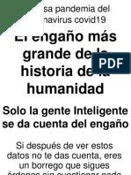 EL ENGAÑÓ MAS GRANDE DEL MUNDO EL COVID 19