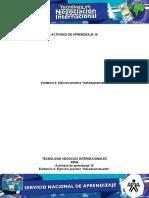 Actividad 10 Evidencia 4 Ejercicio práctico Desaduanamiento