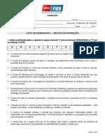 Exercícios 1 GP - Visão Geral e Planejamento
