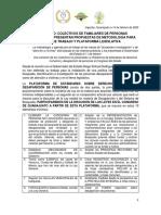 Comunicado Colectivos Presentan Propuestas de Metodologia y Plataforma Legislativa