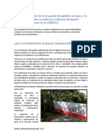 Manifiesto de impacto ambiental e informe preventivo