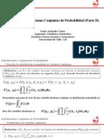 Unidad 6. Distribuciones Conjuntas de Probabilidad (Parte II)