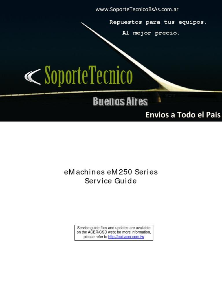 127 service manual emachines em250 bios computer keyboard rh scribd com Hewlett- Packard Old eMachines Desktop