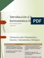 1 Introducción a la hermenéutica literaria - Lupita y Ángel