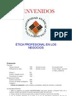 Diap Ética profesional en los negocios para examen de medio término