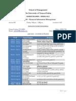 UT Dallas Syllabus for aim3320.501.11s taught by Cheryl Renken (cdr01100)