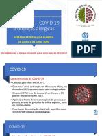 COVID 19 e dcs alérgicas - Sem mund Alerg - ASBAI Assu Comunit - 2020