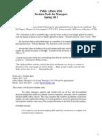 UT Dallas Syllabus for pa6326.501.11s taught by Lowell Kiel (dkiel)