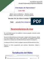 SESIÓN 01 - DIRECCION ESTRATEGICA DE OPERACIONES INFORMES