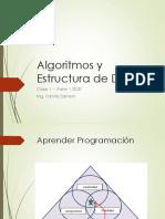 Algoritmos y Estructura de Datos - 1