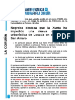 NOTA PP URBANIZACIÓN AGRA SAN AMARO.11/01/2011