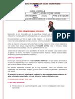GUIA DE APRENDIZAJE PTA  Tecnología 1º A 2020