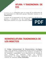 01 NOMENCLATURA  Y TAXONOMIA  DE LOS INSECTOS