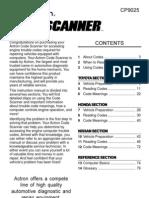 ToyotaHondaNissan Code Scanner CP9025_english