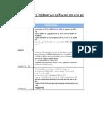 Requisitos Para Instalar Un Software en Una Pc