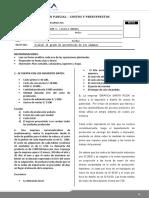 EXAMEN PARCIAL - COSTOS Y PRESUPUESTOS