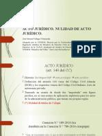 NULIDAD DE ACTO JURÍDICO