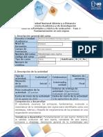Guía de actividades y rúbrica de evaluación - Fase 1 - Fundamentación en Seis Sigma