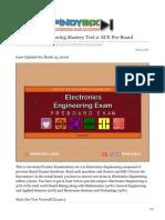 pinoybix.org-Electronics Engineering Mastery Test 2 ECE Pre-Board