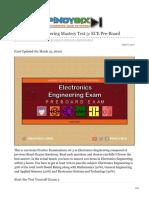 pinoybix.org-Electronics Engineering Mastery Test 3 ECE Pre-Board
