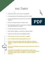 Essay Topics-1