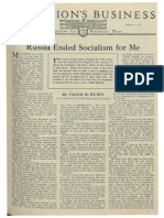 Russia Ended Socialism for Me - Nations Business Magazine - February 1924