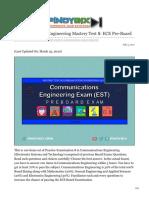 pinoybix.org-Communications Engineering Mastery Test 8 ECE Pre-Board