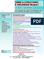 Formation Continue Stereochimie Et Structures en Chimie Organique I 2011