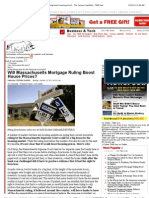 Will the Massachusetts Supreme Court Foreclosure Ruling Boost Housing Prices