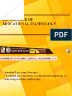 3Importance of Educational Technology