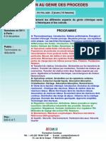 Formation Continue Initiation Genie Des Procedes 2011