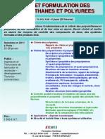 Formation Continue Chimie Et Formulation Des Polyurethanes Et Polyurees 2011