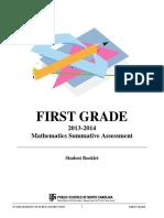 2013-2014 1st Grade Summative Student Booklet