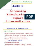 Licensing-Franchising