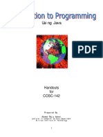 computer science 142 Java (Handouts)