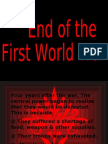 End Of First World War
