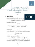 Rezolvare subiecte Bacalaureat 2020 - matematica-tehnologic