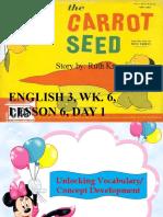 ENGLISH 3, WK. 6, LESSON 6, DAY 1