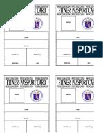 FITNESS PASSPORT ID 4pcs.
