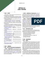 ARTICLE-10 LEAK TESTING