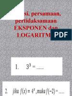 PPT Latihan Soal EKSPONEN dan LOGARITMA