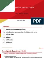 Introducción Econometría e Investigación