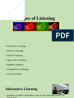 Lecture4- Types of Listening