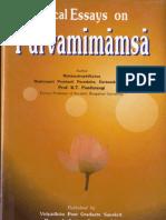 Critical Essays on Pūrva Mīmāṃsā - Pandurangi K.T.