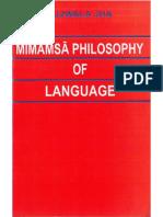Mīmāṃsā Philosophy of Langauge - Jha, U.